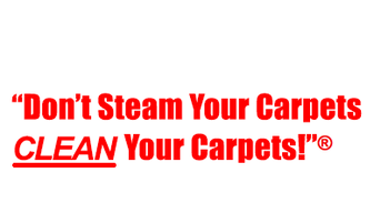 Don't steam your carpets, clean your carpets!